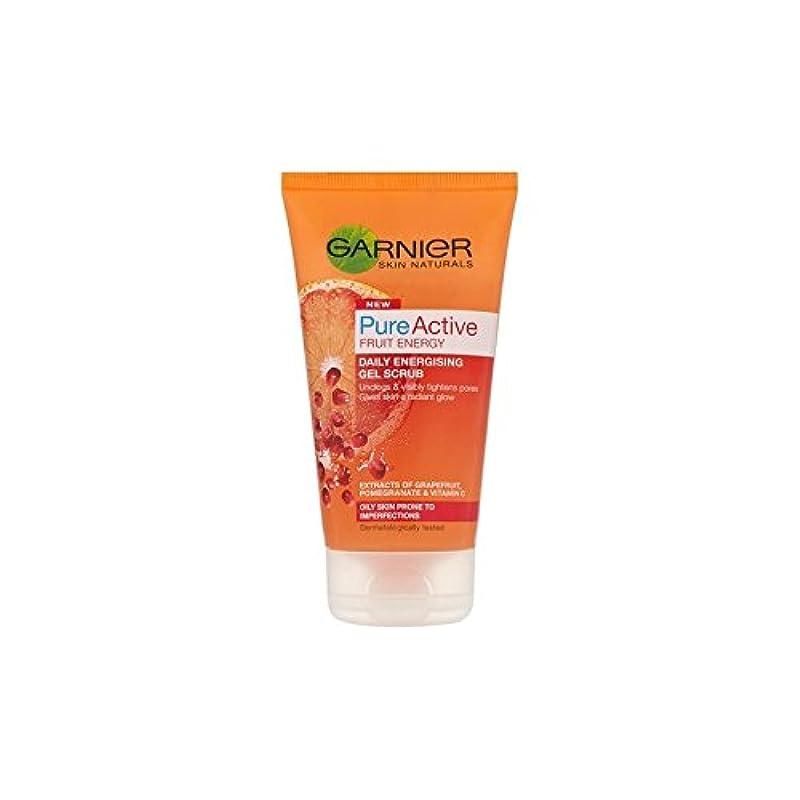 良心致命的なコードGarnier Skin Naturals Pure Active Energising Gel Scrub (150ml) (Pack of 6) - 純粋な活性通電ゲルスクラブ(150ミリリットル)ガルニエ皮膚ナチュラル x6 [並行輸入品]