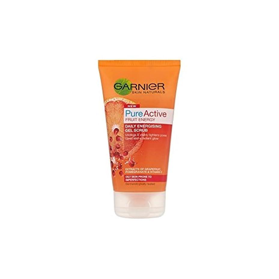 乳白精神医学ガイドライン純粋な活性通電ゲルスクラブ(150ミリリットル)ガルニエ皮膚ナチュラル x4 - Garnier Skin Naturals Pure Active Energising Gel Scrub (150ml) (Pack of 4) [並行輸入品]