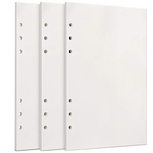 A5 Papier, [3 Packungen] Toplive 100GSM dickes Nachfüllpapier 6 Löcher Nachfülleinlagen Loose Notizpapier A5 Refill Paper 135 Blätter (270 Seiten) für 6 Ring Binder Notizbuch,Blanko Papier