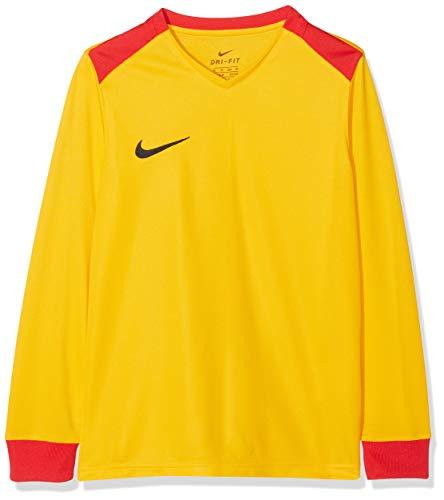 Nike Kinder Y NK DRY PRK DRBY II JSY LS Long Sleeved T-shirt, Black/Volt/White, M