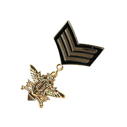 Generic 1PC Retro Preppy Olha Antigo Do Vintage Militar Medalha de Crachá Broche Broches para O Pai Marido Filho Amigos Do Masculino