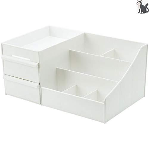 YWAWJ Boîte de Rangement Multifonctionnel Boîte de Rangement Étudiant en Plastique 6 Compartiment Cosmétiques Coffret Coffret Simple Papeterie Sundries Boîte de Rangement