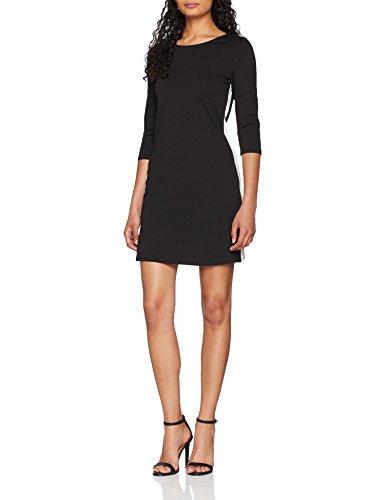 ONLY NOS Damen Kleid Onlbrilliant 3/4 Dress Jrs Noos, Schwarz (Black Detail: Cloud Dancer Panel), 38 (Herstellergröße: M)