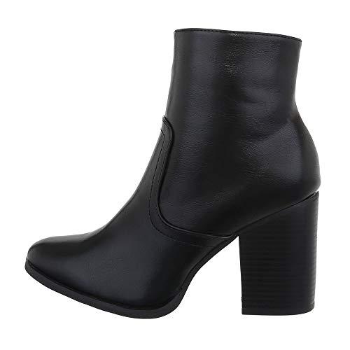 Ital-Design damesschoenen laarsjes klassieke laarzen