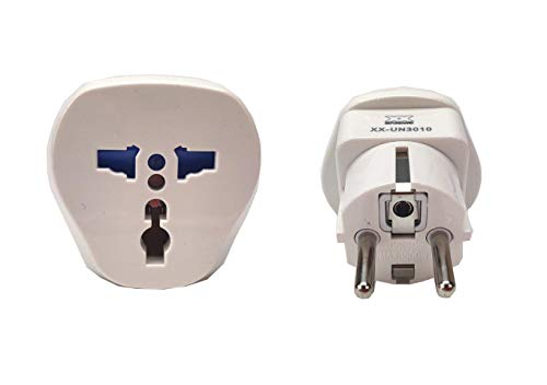 Garsaco Universal Adaptador de Enchufe UK/US/AU/Asia a UE, Adaptador Europeo de Viaje Enchufe