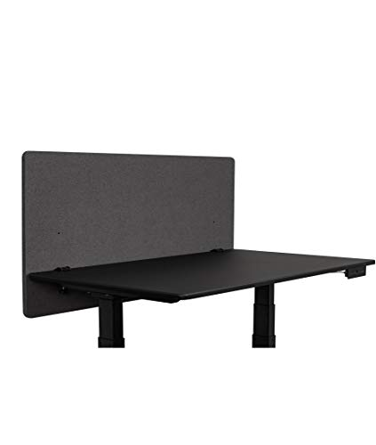 ReFocus™ Akustische Klemmtrennwand mit Stoffbezug - Reduzieren Sie Lärm und visuelle Ablenkungen mit diesem leichten, am Schreibtisch montierten Sichtschutz (Aschgraugrau, 48