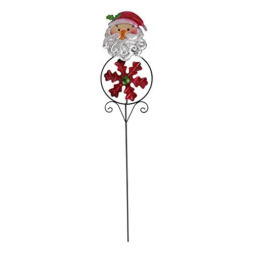 Cabilock Metall Gartenstecker Weihnachtsmann Figur Eisen Windrad Glas Windmühle Vogelabwehr Weihnachten Gartendeko Stecker Dekostecker Garten Dekoration Figuren für Außen Outdoor Rasen Terrassen Deko