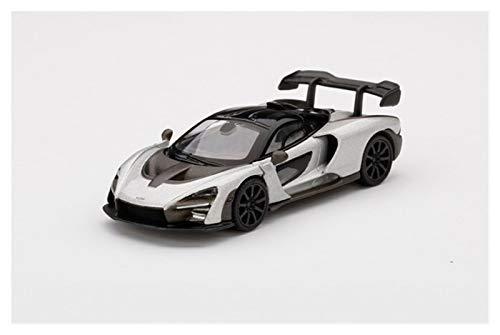 Coche Modelo a Escala 1:64 para McLaren para Senna Silver RHD Die-Fasting Simulation Modelo Modelo Coche Regalo para Adultos Coche De Juguete para Niños