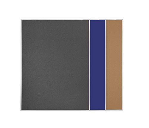 Pintafel doppelseitig Filz blau