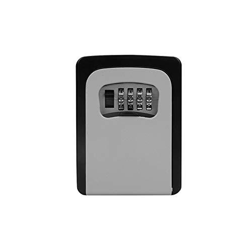 FSYGZJ Schlüsseltresor mit 4-stelligem Zahlencode,Außen/Innenschlüssel Tresorschlüsselhalter Wandmontage Schlüsselbox mit ahlenkombination Schlüsselsafe für Schlüssel und Zugangskarte,Grau