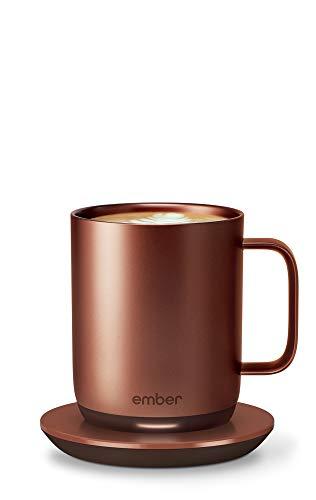 Ember Temperature Control Smart Mug 2, 10 oz, Copper, 1.5-hr Battery Life - App Controlled Heated Coffee Mug