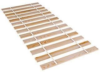Amazinggirl Lattenrost 90x200cm Rollrost - Rolllattenrost Fichte Holz Erwachsenen und Kinder-Bett unverstellbar 90 x 200 cm
