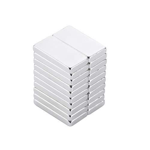 Yizhet 20 Pieza Neodimio N52 Imán,Mini Raro Tierra 20 x 10x 2 mm Imanes Rectángulo Imán de Neodimio Para la cocina, Experimentos Científicos,Diseño de DIY, Oficina