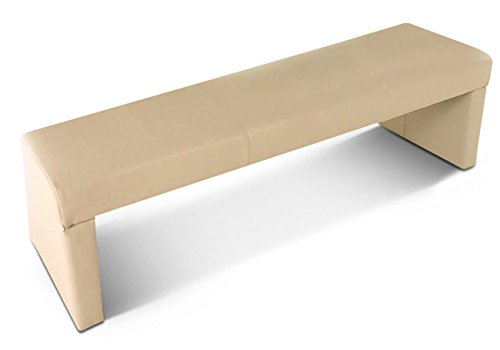 SAM Sitzbank 140 cm Tobago in Creme komplett bezogen, angenehme Polsterung, pflegeleicht