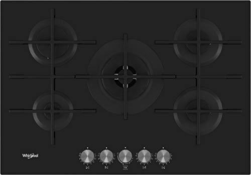 Piano Cottura a Gas da 73 cm, N° 5 Fuochi, Nero