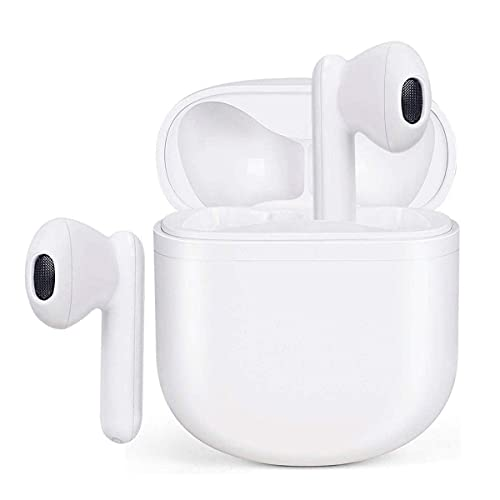 Wireless Earbuds Auriculares Bluetooth 5.0 Auriculares Inalambricos Cascos Bluetooth Headphone Deportivos Estéreo con Mic y Cancelación de Ruido Caja de Carga