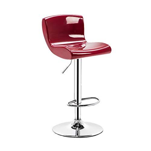 HXF - Taburete moderno minimalista para el hogar, mesa de bar y silla de ocio, mesa de trabajo, taburete alto duradero (color: rojo, estilo: A)