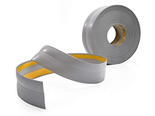Weichsockelleiste Selbstklebend GRAU Knickleiste zum Kleben, für Küche Badezimmer, 32x23mm, 25 Meter