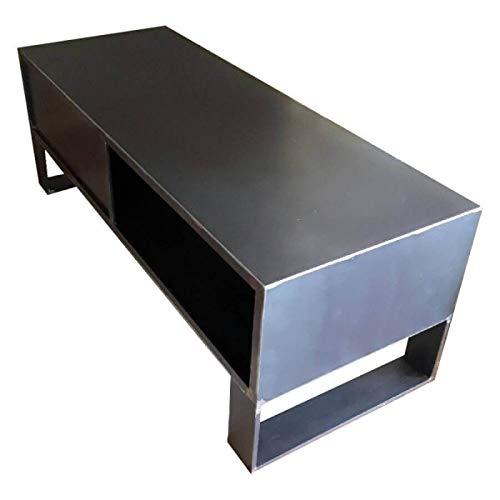 MATHI DESIGN Mobile TV Steel 120cm Acciaio lordo