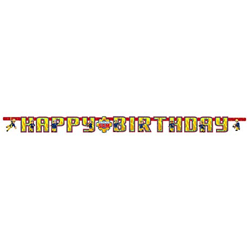 Amscan International 9902180 letterslinger, 1,6 m x 13 cm, met tekst 'Happy Birthday' voor kinderverjaardag