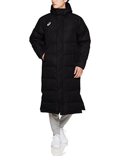 [アシックス] フィットネス コート ロングダウンコート XAW316 メンズ ブラック 日本 L (日本サイズL相当)