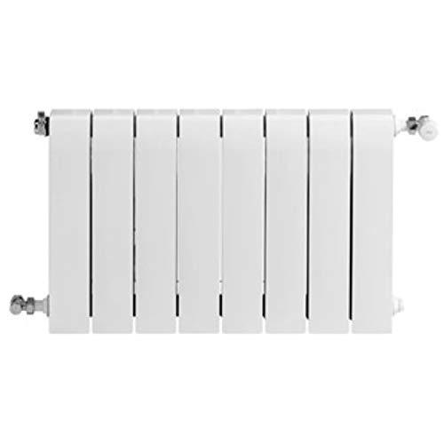 Baxi Radiador de aluminio de alta emisión térmica Batería, 8 elementos, serie Dubal 80, 8,2 x 64 x 77,1 centímetros (Referencia: 194A35801), blanco
