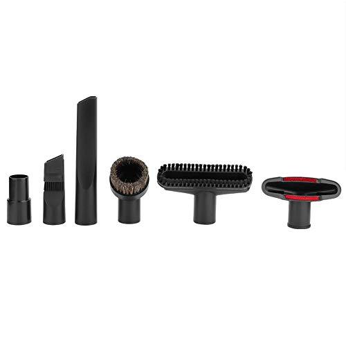 Haofy Boquillas para Aspiradoras, 6 Piezas/Juego Accesorio para aspiradora Kit de Cepillo de Cabeza de succión Accesorios de aspiradora Accesorios Aptos para diámetros internos...