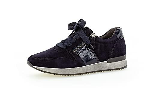Gabor Damen Low-Top Sneaker, Frauen Halbschuhe,Wechselfußbett,Best Fitting,Freizeitschuhe,Laufschuhe,schnürschuhe,schnürer,Atlantik,39 EU / 6 UK