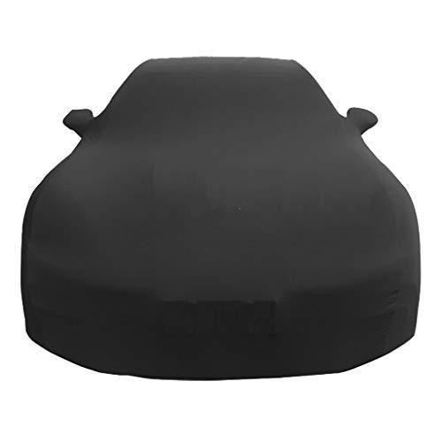 Custom Fit for Porsche 911 Series Carrera Targa Turbo GTS Boxster Luxury Stretch Satin Cashmere Car Cover (Black)