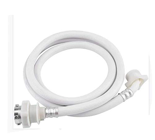 Manguera De Llenado De Entrada De Agua Fría para Lavadora De PVC, Color Blanco, 1-5 M De Largo, Adecuada para Lavadora,2M
