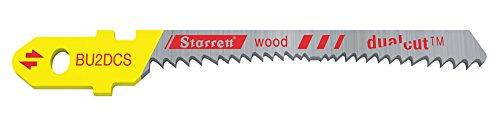 Starrett BU2DC-2 - Hoja de sierra para madera (acero rápido, bimetálica, corte dual, 2 unidades)