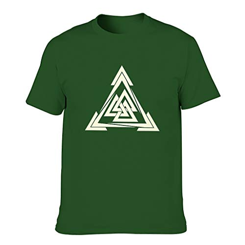 Viking - Camiseta de algodón para hombre (muy suave) Dark Green001. XXXXXXL