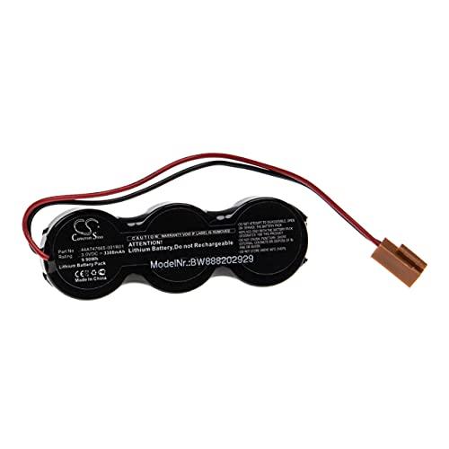 vhbw Batería no recargable compatible con GE IC698ACC701A, IC698ACC701B, IC698ACC701C Controlador Lógico Programable, PLC (3300 mAh, 3 V,)