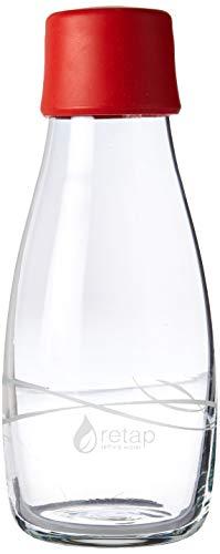 Retap Borosilikatglas Wasser Flasche, Unzen, rot