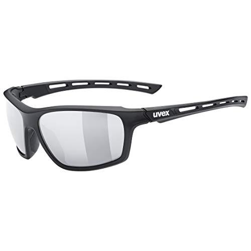 uvex Sportstyle 229 Gafas de Deporte, Unisex-Adult, Black Mat/Silver, One Size