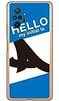 [Redmi Note 10 Pro M2101K6R/MVNOスマホ(SIMフリー端末)専用] Coverfull スマートフォンケース Cf LTD ハローイニシャル A ブルー (クリア) MXIN1P-PCCL-152-MC71