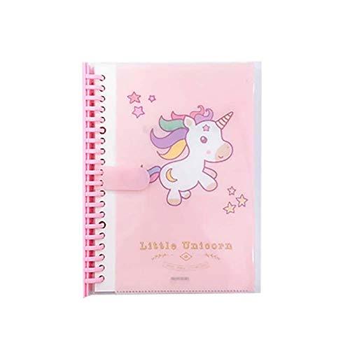 Monbedos - Cuaderno de notas horizontal con diseño de unicornio, color rosa 20.5cm *14.2cm