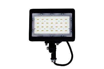 Duralec 15W Mini Flood Light, 15 Watt Waterproof Led Flood Light with Knuckle Mount, Daylight White 5000K Security Spot Light UL and DLC Premium Listed