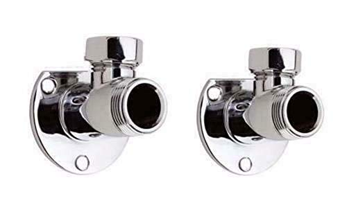 Válvula de grifo para barra de ducha, montaje en pared, codos cromados