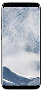 Samsung Galaxy S8 (Single-SIM) 64GB SM-G950F (GSM Only, No CDMA) Factory Unlocked 4G/LTE Smartphone - Internal Version (Arctic Silver)