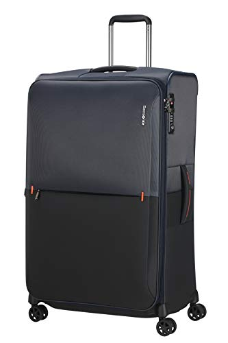 Samsonite Rythum - Spinner L Espandibile Valigia, 79 cm, 108/114 L, Multicolore (Blue)