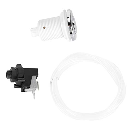 Emoshayoga Pneumatischer Knopf Leicht zu ersetzender Luftdruckschalter Edelstahl Einfache Installation von 250 V für Schwimmbäder und Whirlpools