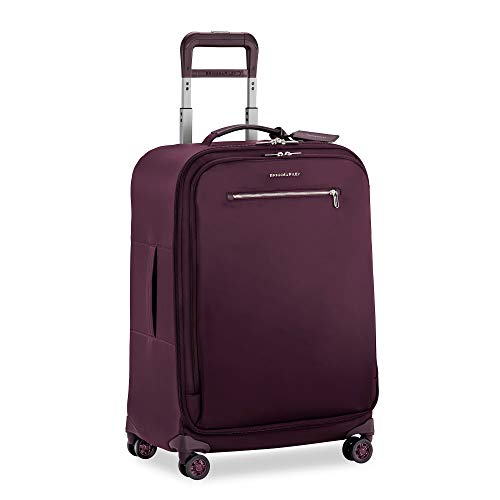 Why Should You Buy Briggs & Riley Rhapsody-Softside Spinner Luggage, Plum, Checked-Medium 25-Inch