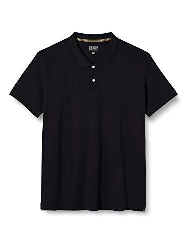 ESPRIT Herren 010EE2K325 Poloshirt, 001/BLACK, XXX-Large