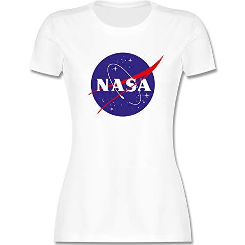 Statement - NASA Meatball Logo - S - Weiß - Shirt NASA Damen - L191 - Tailliertes Tshirt für Damen und Frauen T-Shirt
