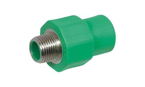 Aqua-Plus - PPR Rohr Kupplung AG d = 20 mm x DN 15 (1/2