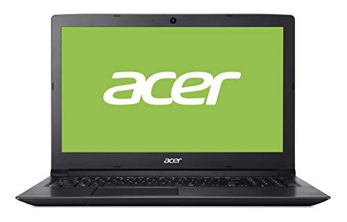 Acer Aspire 3 | A315-33 - Ordenador portátil de 15.6' HD (Intel Celeron N3060, 4 GB RAM, 1000 GB HDD, UMA, Windows 10 Home) Negro - Teclado QWERTY Español