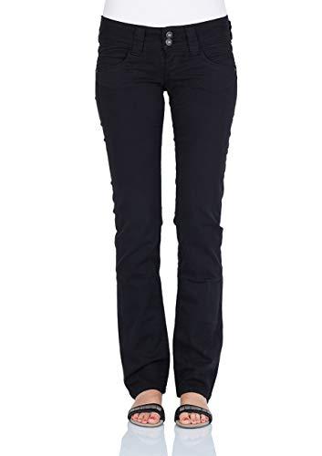 Pepe Jeans Venus Pl200029 Jeans, Black, 33 W - 34 L Donna
