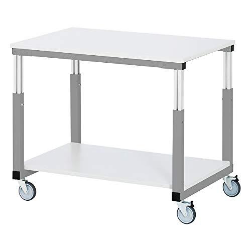 RAU Tischwagen ESD, Melaminharzplatte LxB 1000 x 700 mm - Werkzeugwagen und Montagewagen assembly trolleys