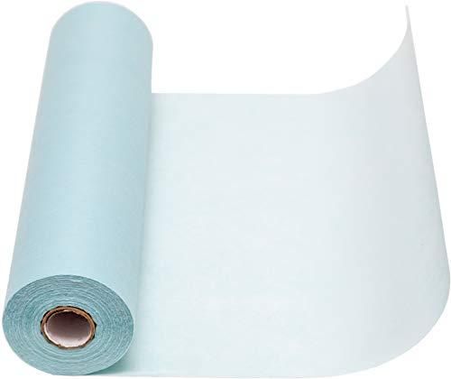 Runner da tavolo in tessuto non tessuto, 1 rotolo 25 m x 30 cm, tessuto decorativo, nastro da tavola, decorazione per matrimonio, battesimo, comunione, compleanno. Azzurro